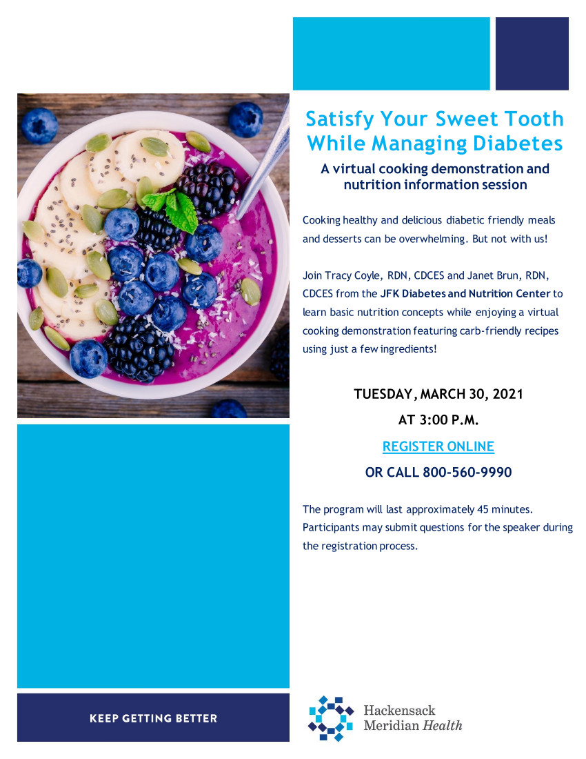 Satisfy Your Sweet Tooth 2021/03/30 at 3pm