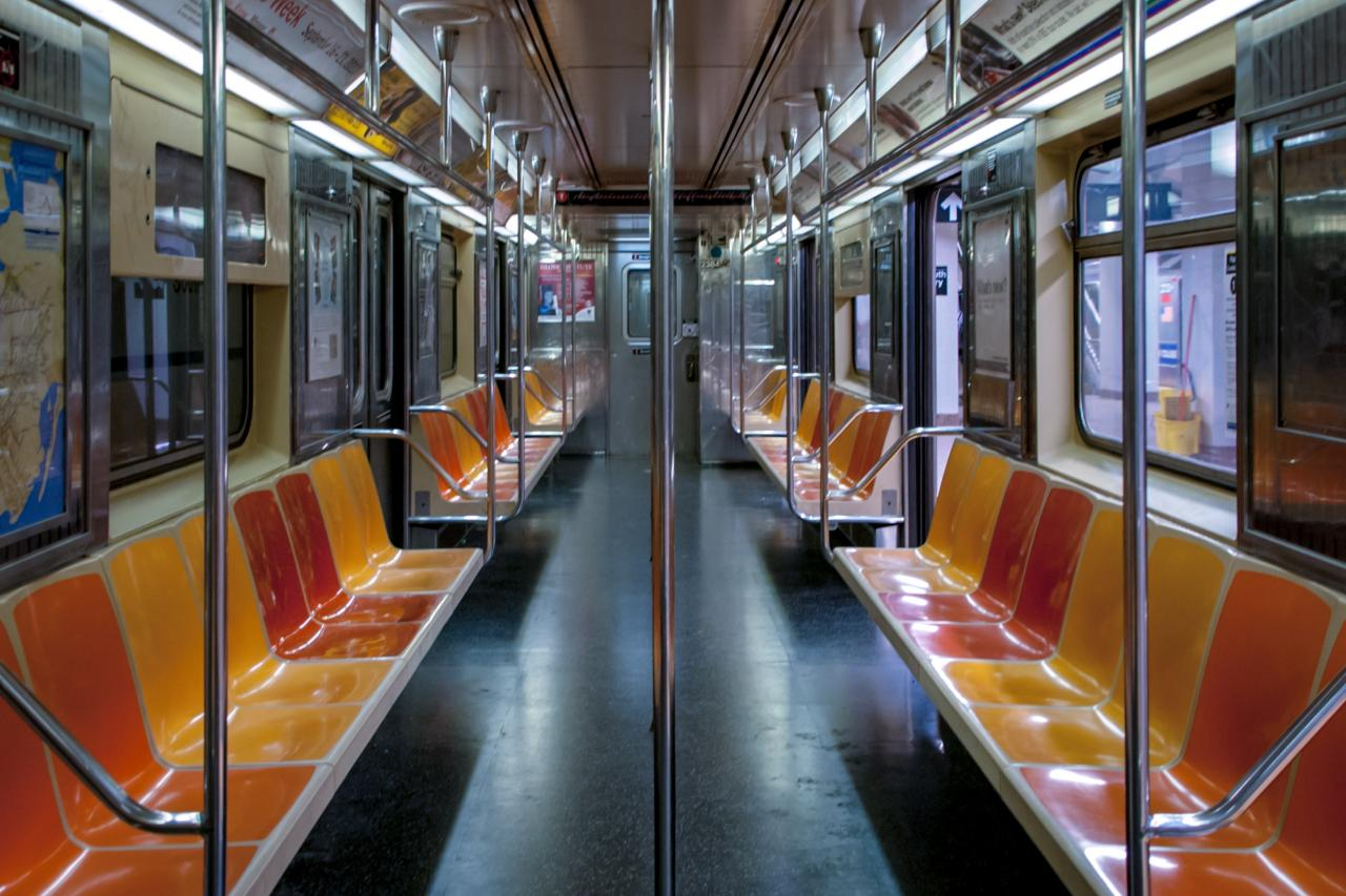 An empty subway car